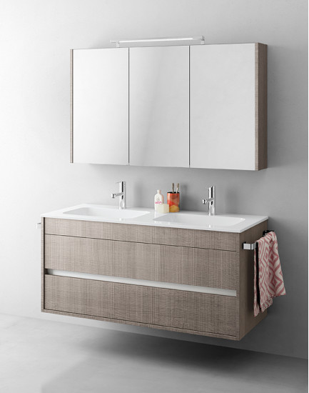Duetto 14: Monoblock W 124 cm D 51 cm with 2 drawers
