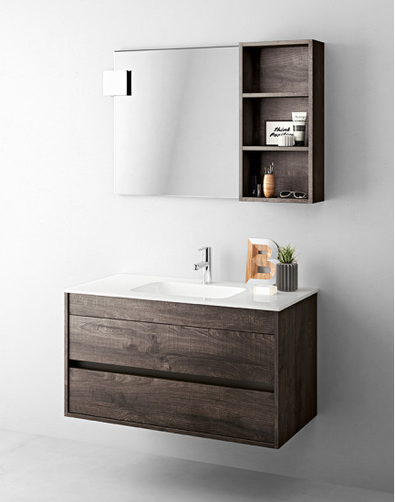 Duetto 03: Monoblock W 104 cm D 51 cm with 2 drawers