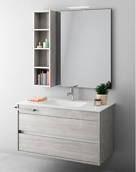 Duetto 09: Monoblock W 104 cm D 51 cm with 2 drawers
