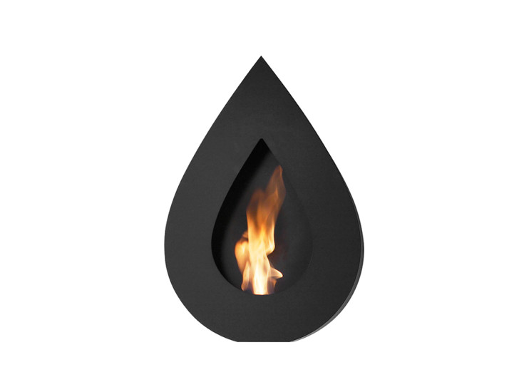 Flame Wall: Wall mount fireplace 500 mm x 150 mm x 760 mm