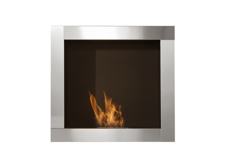 In Wall: Wall integrated fireplace 890 mm x 350 mm x 840 mm