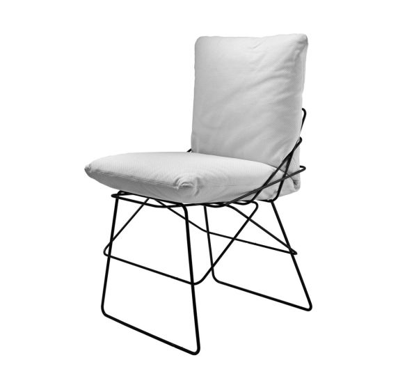Sof Sof Outdoor: Chair with steel structure