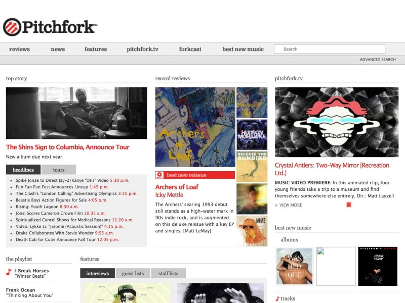Pitchfork redesign