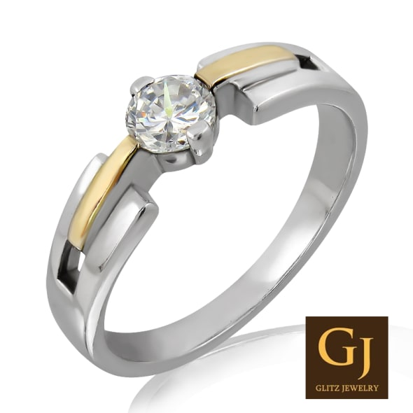 18K Gold and 0.30 Carat F Color VS Clarity Diamond Ring