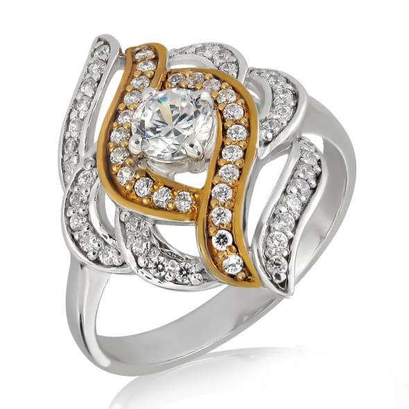 18K Gold and 0.70 Carat F color VS clarity Diamond Ring