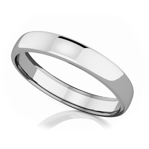 แหวนPlatinum - 4 mm Comfort fit classic