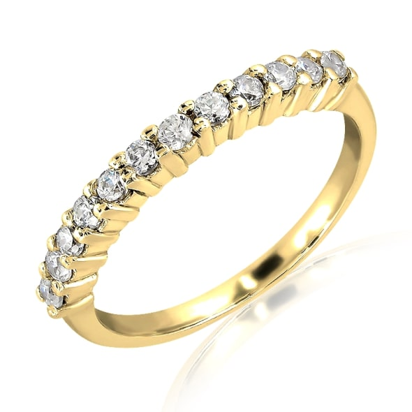 18K Gold and 0.20 Carat F Color VS Clarity Diamond Ring.