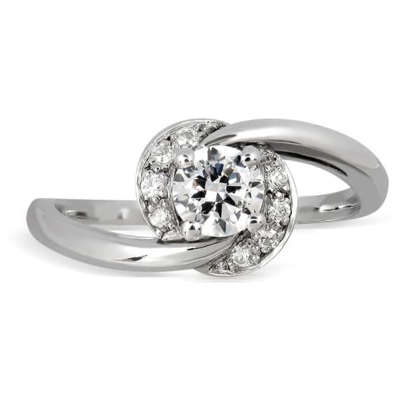 18K Gold and 0.35 Carat E (Nam 99) Color VS2 Clarity Diamond Ring
