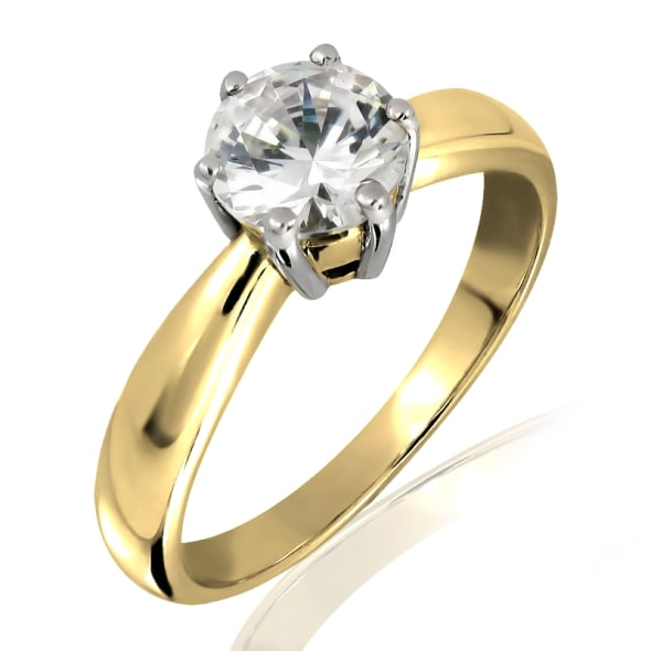 18K Gold and 0.30 Carat E Color VS2 Clarity GIA Certified Diamond Ring