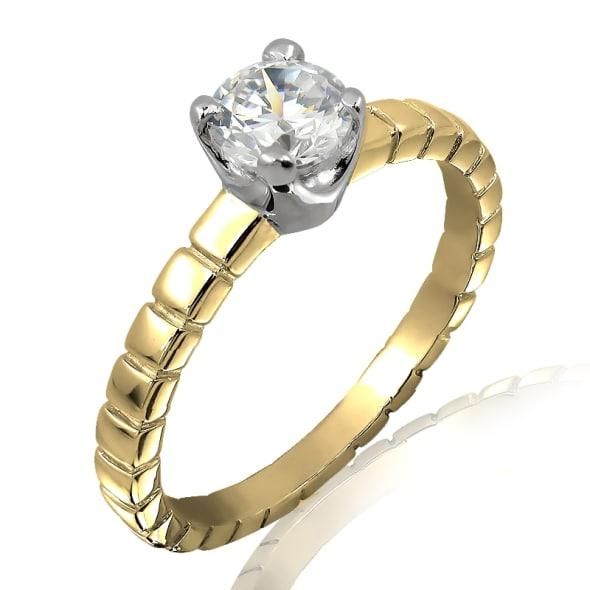 แหวนทอง 18K ประดับเพชร น้ำหนักรวม 0.50 กะรัต ค่าสี F ค่าความสะอาด VS2 EX/EX/EX เพชรมาพร้อมใบรับรองจากสถาบัน GIA