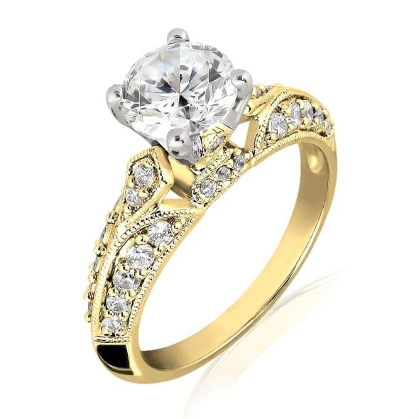 แหวนทอง 18K ประดับเพชร น้ำหนักรวม 0.87 กะรัต ค่าสี F ค่าความสะอาด VS2 เพชรมาพร้อมใบรับรองจาก GIA