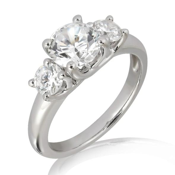 แหวนทอง 18K ประดับเพชร น้ำหนักรวม 1.00 กะรัต ค่าสี F ค่าความสะอาด VS2 เพชรมาพร้อมใบรับรองจาก GIA