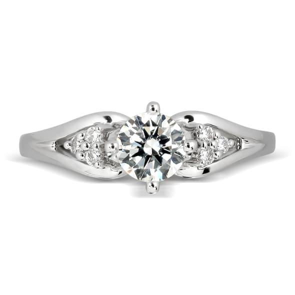 แหวนทอง 18K ประดับเพชร น้ำหนักรวม 0.26 กะรัต ค่าสี E ค่าความสะอาด VS2