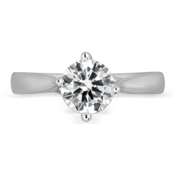 แหวนทอง 18K ประดับเพชร น้ำหนักรวม 1.00 กะรัต ค่าสี G ค่าความสะอาด VS1 EX/EX/EX เพชรมาพร้อมใบรับรองจากสถาบัน GIA