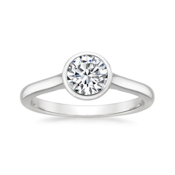แหวนทอง 18K ประดับเพชร น้ำหนักรวม 1.00 กะรัต ค่าสี G ค่าความสะอาด VS1 EX/EX/EX เพชรมาพร้อมใบรับรองจาก GIA
