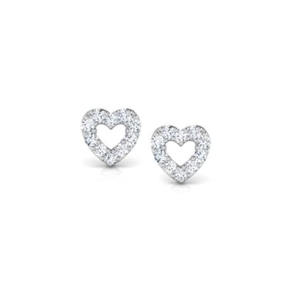 18K Gold and 0.10 carat Diamond Earrings