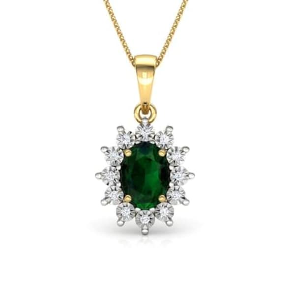 18K Gold and 0.05 carat Diamond Pendant