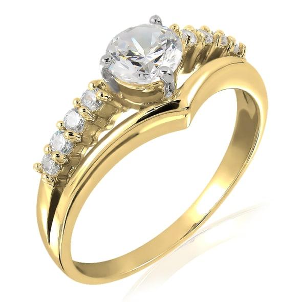 แหวนทอง 18K ประดับเพชร น้ำหนักรวม 0.50 กะรัต ค่าสี G ค่าความสะอาด VS
