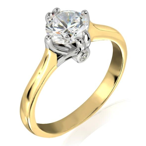 แหวนทอง 18K ประดับเพชร น้ำหนักรวม 0.60 กะรัต ค่าสี F ค่าความสะอาด VS2 เพชรมาพร้อมใบรับรองจาก IGL