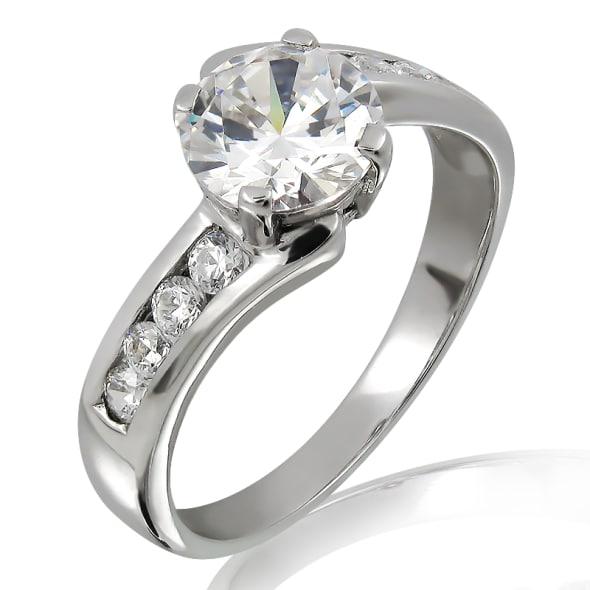 แหวนทอง 18K ประดับเพชร น้ำหนักรวม 1.00 กะรัต ค่าสี F ค่าความสะอาด VVS2 EX/EX/EX เพชรมาพร้อมใบรับรองจาก IGL