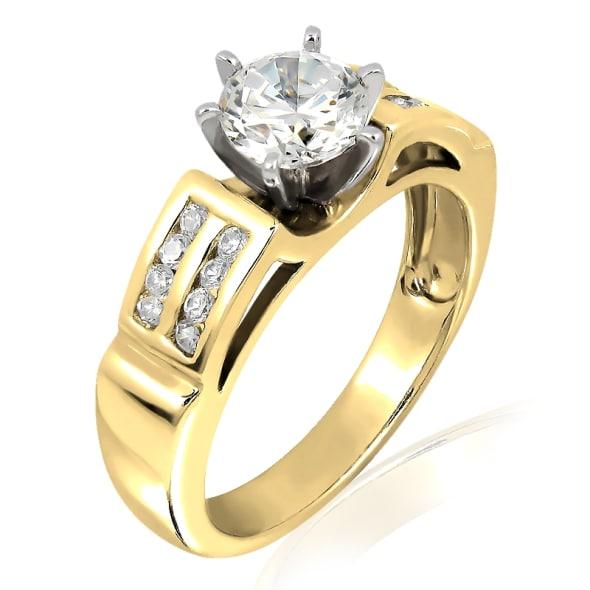 แหวนทอง 18K ประดับเพชร น้ำหนักรวม 0.75 กะรัต ค่าสี E ค่าความสะอาด VS2 เพชรมาพร้อมใบรับรองจาก  IGL