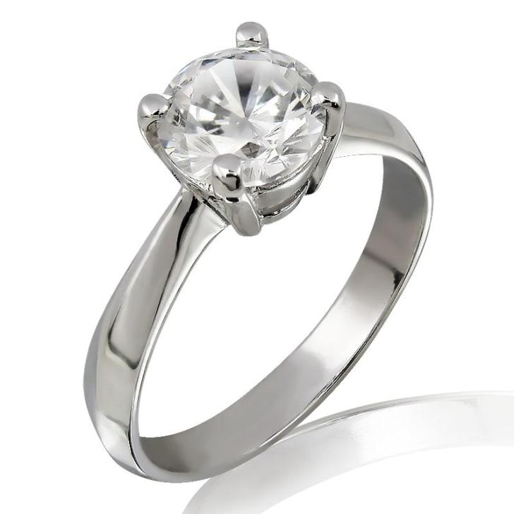 แหวนทอง 18K ประดับเพชร น้ำหนักรวม 0.30 กะรัต ค่าสี D ค่าความสะอาด VS2 EX/EX/EX เพชรมาพร้อมใบรับรองจาก GIA