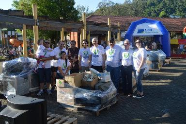 Recicla CDL Herval recolhe 2100kg de lixo eletrônico