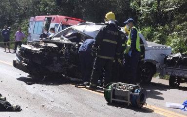 Grave acidente deixa uma vítima fatal na BR 470 em Brunópolis