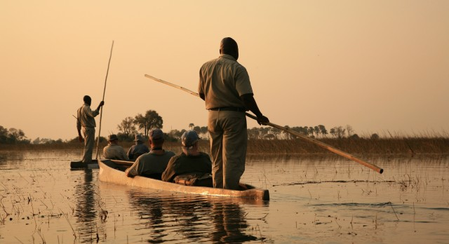 Mokoro boat rides at the Okavango Delta in Botswana, Africa with Enchanting Travels - Top 10 adventures