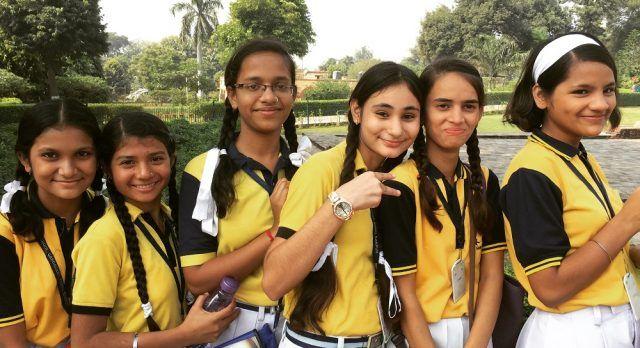 Indian school kids on a field trip