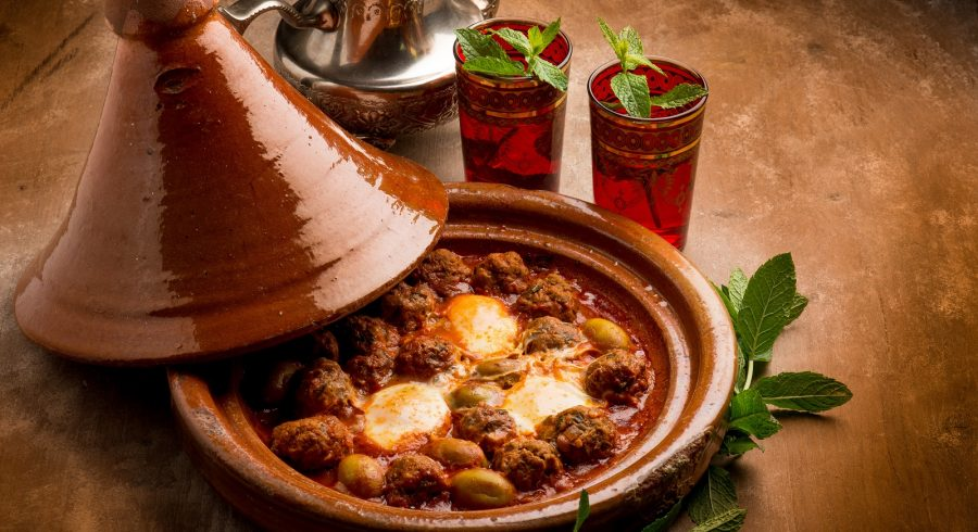a Maghrebi dish which is named after the earthenware pot in which it is cooked.