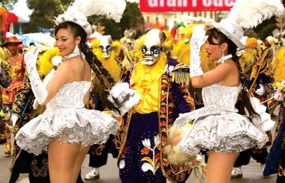 Morenada Tänzer beim Oruro Karneval