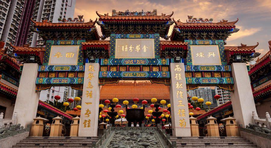 Temple in Kowloon, Hong Kong