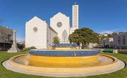 Enchanting Travels New Waiapu Cathedral of St John the Evangelist, and the Tait Fountain in Napier