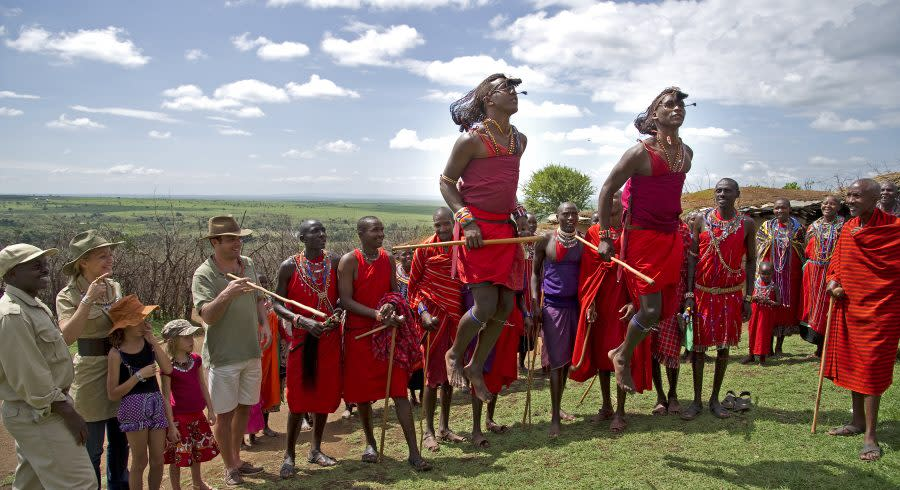 Enchanting Travels Kenya Tours Masai Mara Maasai dance