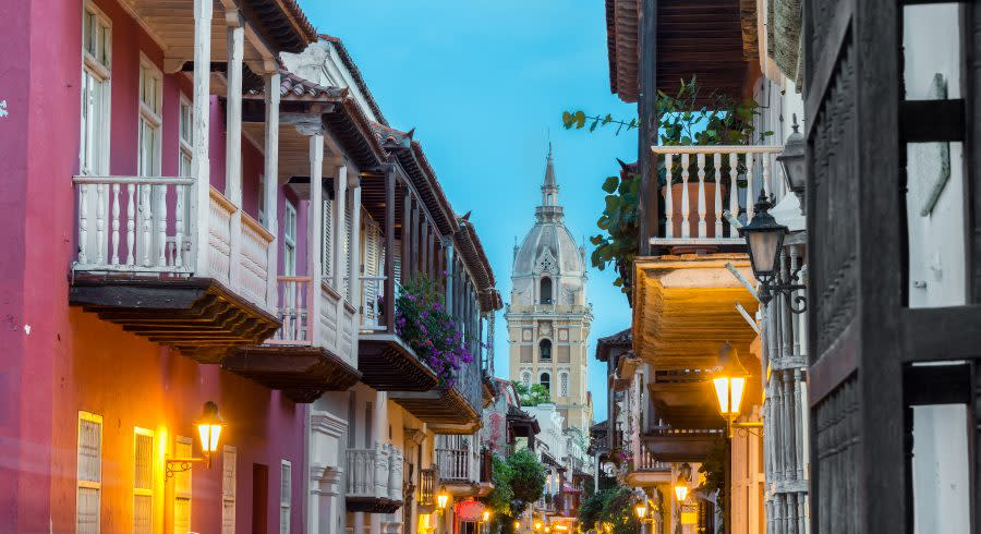 Street view of Cartagena, Colombia