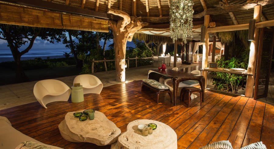 Luxury resort on the North Island of the Seychelles
