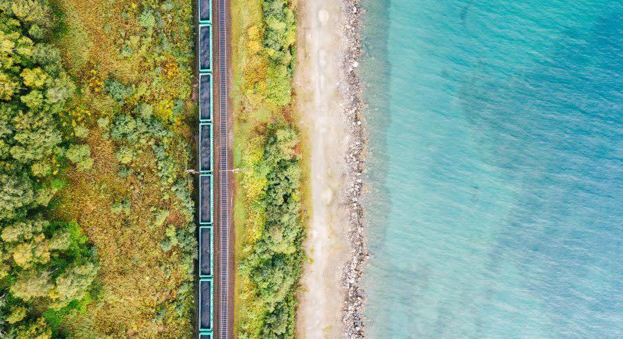 Lake Baikal Shore Trans Siberian Railway
