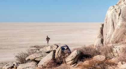 Reiseziel Kalahari Salzpfannen in Botswana