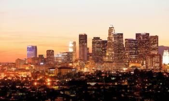 Downtown LA city lights