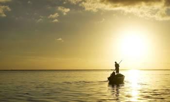 An image of a Mauritian sunset