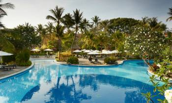 This is a photo of the pool at the Melia Bali Indonesia