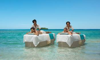 Couples massage at sea