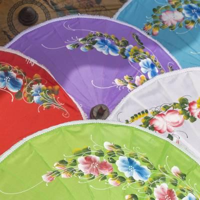 Floating market umbrellas Thailand