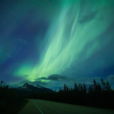 Northern Lights over the Icefield Parkway