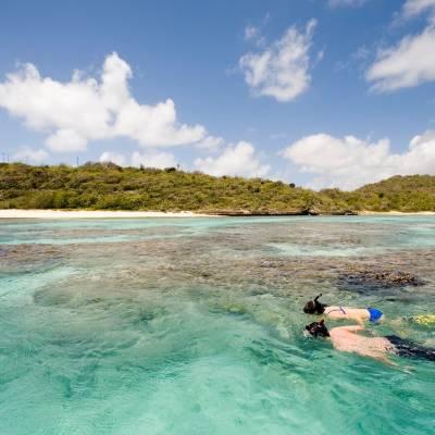 Snorkelling at Green Bay