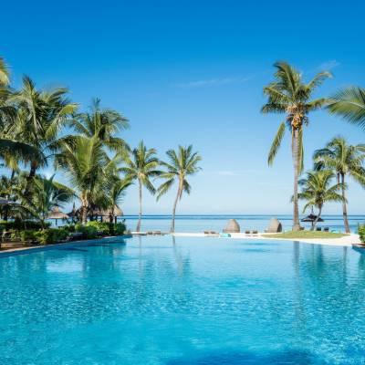 Outdoor Pool at Sugar Beach in Mauritius