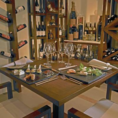 Dinning in Private Wine Cellar