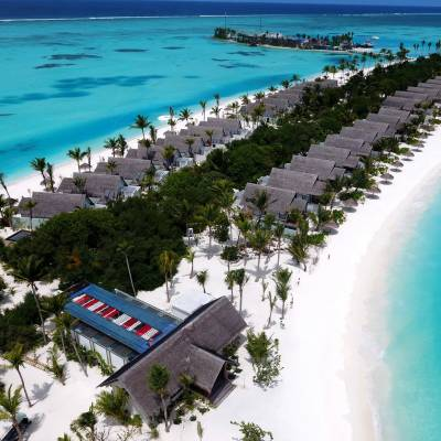 Aerial view OZEN by Atmosphere at Maadhoo
