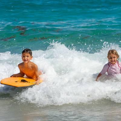 Kid's surfing